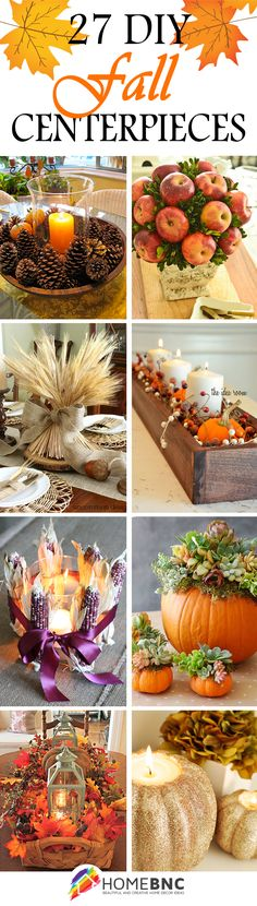 #DIY #Fall Centerpiece Decorations, perfect choices for your family gathering.