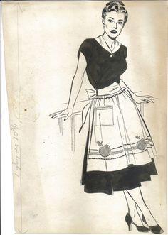 DRAKE - Juliet Jones 1953 promo art Juliet in apron Comic Art Retro Illustration, Ink Illustrations, Comic Book Layout, Comic Books, Drake, Storyboard, Pop Characters, Nordic Art, Feminist Art