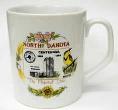 North Dakota Centennial Coffee Cup Mug Vintage Made in USA Berg Ceramics 1989 | eBay
