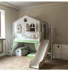 Bedroom Sets, Girls Bedroom, Bedroom Decor, Diy Kids Room, Paris Rooms, Little Girl Rooms, Kid Beds, Play Houses, Kids Furniture