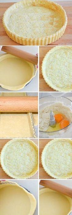 Masa quebrada básica para tartas dulces o saladas. #receta #recipe #casero #torta #tartas #pastel #nestlecocina #bizcocho #bizcochuelo #tasty #cocina #chocolate #pan #panes #pastel #masa como hacer una Masa Brisée de una manera super fácil. Esta masa sirve ta...