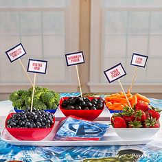 Help your superheroes recharge with superfoods! Click for ideas & how-to's from our Avengers Party Ideas Guide.