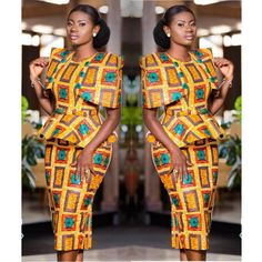 Attractive Ankara Skirt & Blouse Styles- Looking Good is Good Latest African Fashion Dresses, African Print Dresses, African Print Fashion, Africa Fashion, African Dress, African Clothes, African Prints, Women's Fashion, African Attire
