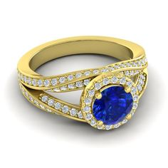 AZEERA ELLIPSES RING for sapphire lovers!