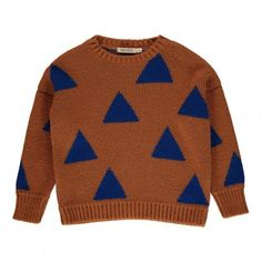 Triangle Jacquard Pullover Gingerbread  Bobo Choses
