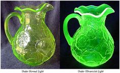 Who doesn't love Vasoline glass?  Glows under a black light!!  I have a couple plates In my shoppe.