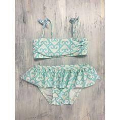 Baby Gap Blue & White Heart Bikini 12-18m
