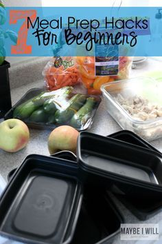 7 Meal Prep Hacks For Beginners Slow cooker Rice cooker Roasted veggies Keep it simple - boiled eggs, chopped veggies, cooked meat Schedule a time to do it Easy containers and traveling things
