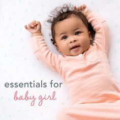 Baby essentials for baby girl from Carter's.