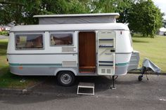 Hymer Eriba Troll Caravan 1995 with awning Camper Caravan, Gypsy Caravan, Camper Van, Cool Vans, Camping Glamping, House On Wheels, Travel Trailers, Vw Bus, Happy Campers
