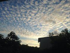 Les nuages dans le vent