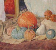Acrylic on wood... Pumpkins