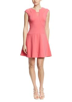 Rachel Roy Mesh Insert Dress in Strawberry Twist
