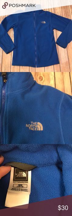 Kids northface jacket The north face jacket kids size medium 10/12! Blue colored! See other listings to bundle and save! The North Face Jackets & Coats