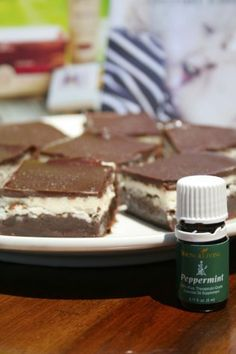 Peppermint Cream Brownies made with Young Living Peppermint Essential Oil