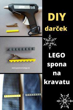 Vyrobte ockovi na vianoce LEGO sponu na kravatu. Tu nájdete podrobný návod, s pomocou ktorého to určite zvládnete. Lego, Tie Clip, Diy, Do It Yourself, Bricolage, Legos, Handyman Projects, Tie Pin, Crafting