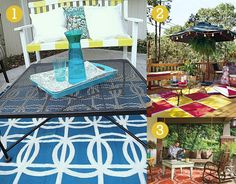 Weekend DIY: Outdoor Rug | Willard and May Outdoor Living Blog