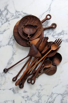 wooden utensils for stylish cooking