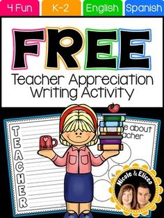We designed this activity specifically with Teacher Appreciation Week in mind. However, it can be used any time of year, as we should show teachers appreciation all year round. TERMS OF USEThis resource was designed and copyrighted by Nicole Sanchez. All rights are reserved by the author.