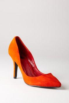 Orange pump.
