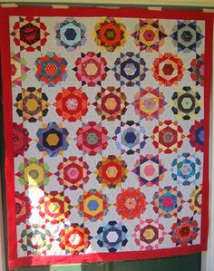 Mexican Yarns: Rose Star Quilt Top