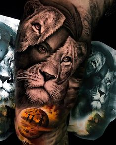 [New] The 10 Best Tattoo Ideas Today (with Pictures) - Absolutely amazing . - My list of the most creative tattoo models Lion Head Tattoos, Arm Tattoos, Body Art Tattoos, Sleeve Tattoos, Cool Tattoos, Amazing Tattoos, Tattoo Ink, Tattos, Afrika Tattoos