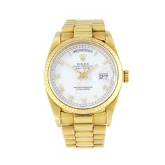 ROLEX - a gentleman's Oyster Perpetual Day-Date bracelet watch. Circa 1984. 18ct yellow gold case wi