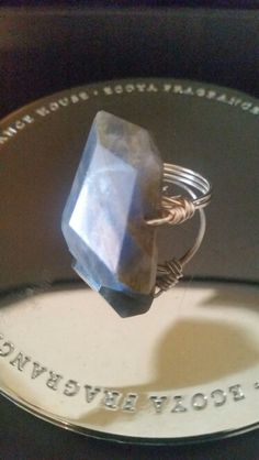 Labadorite Wire Wrapped Statement Ring