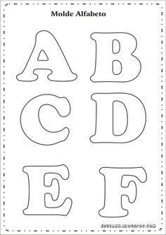 moldes de letras do alfabeto para imprimir -1