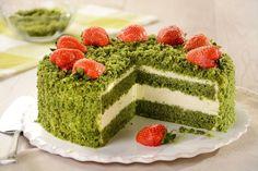 Przepis na Tort leśny mech Moss Cake, Sports Themed Cakes, Different Cakes, Cake Photography, Fancy Desserts, Polish Recipes, Polish Food, Cake Mold, Matcha