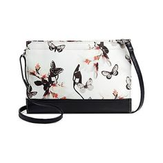 Bueno of California Women's Faux Leather Print Crossbody Handbag... ($17) ❤ liked on Polyvore featuring bags, handbags, shoulder bags, ivory, shoulder strap handbags, handbags purses, handbags shoulder bags, white purse and white handbags