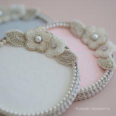 再販しました《 Fleurs en Pot 》 - Plateaux pour Perles - | オートクチュール刺繍 Yukari Iwashita Knitted Necklace, Pearl Necklace, Beaded Bracelets, Band, Yukari, Shopping, Jewelry, Fashion, Diy Kid Jewelry