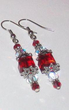 Swarovski Crystal Earrings by KathiesCrystal on Etsy, $25.00