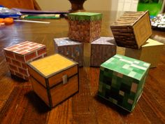 REAL Minecraft Blocks! Minecraft is an AWESOME game, where you can build stuff from little cubes. Everything is a cube. Even YOU are a cube!