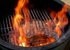 TRex Method For New York Strip Steaks -- The Naked Whiz's Ceramic Charcoal Cooker Web Site