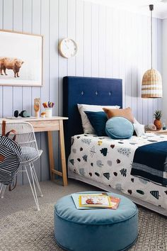 Choose from the largest collection of Kids Room Design & Decorating Ideas to add style. Discover best Kids Room interior inspiration photos for remodel & renovate. Cozy Bedroom, Girls Bedroom, Feminine Bedroom, Bedroom Decor, Childrens Bedrooms Boys, Kid Bedrooms, Bedroom Lighting, White Bedroom, Boys Bedroom Ideas Tween