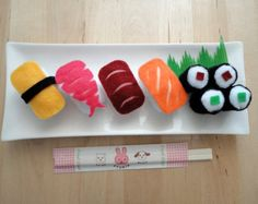 felt play food sushi set