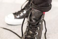 CONVERSE CHUCK TAYLOR '70 BLACK/BLACK available at www.tint-footwear.com/converse-chuck-taylor-70-159534c chucks all star chuck taylor 70s black leather high top retro sneaker tint footwear studio munich