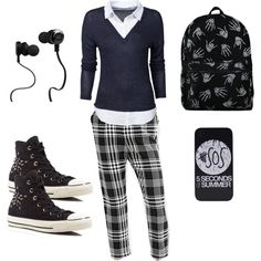 Lover by pinkmitta on Polyvore featuring polyvore fashion style ONLY Cooperative Converse Monster