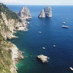 Capri: view the Faraglioni from Giardini di Augusto