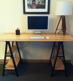 Sawhorse Desk via Reddit