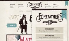 Forefathers website design - pretty cool grid segmentation, sweet aesthetic.