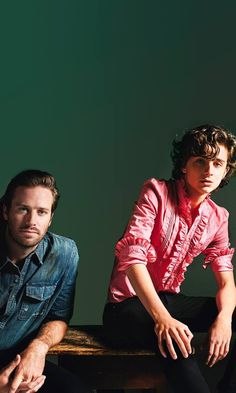 Armie & Timothee.
