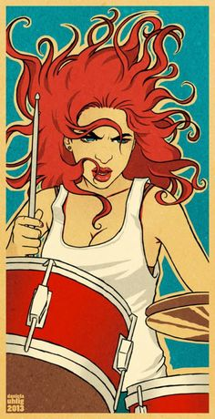 Daniela Uhlig #illustration #drummer