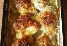 Sajtos-tejszínes csirkecomb Lasagna, Food And Drink, Diet, Vegetables, Ethnic Recipes, Vegetable Recipes, Banting, Diets, Lasagne