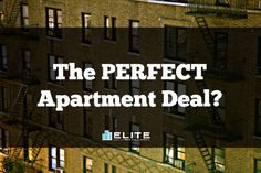 Click here to find out about the PERFECT apartment deal!