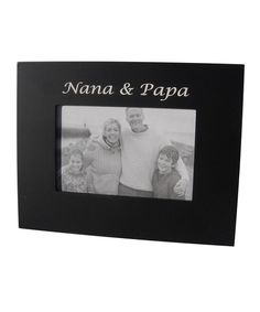 Black 'nana & Papa' Frame