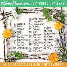 Join the July Instagram Photo Challenge! Practice gratitude one photo at a time this summer!