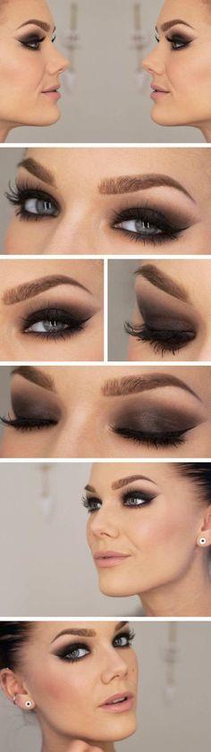 Smokey Eye Look für Blaue Augen Abend Makeup