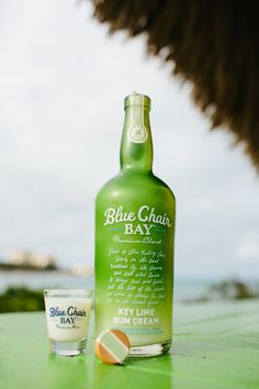 FUZZY LIME SHOOTER // 1 oz. Blue Chair Bay® Key Lime Rum Cream + .5 oz. licor 43 // Shake and serve.